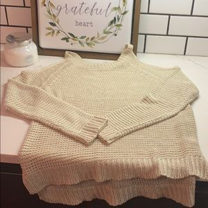 R D Style cold shoulder sweater